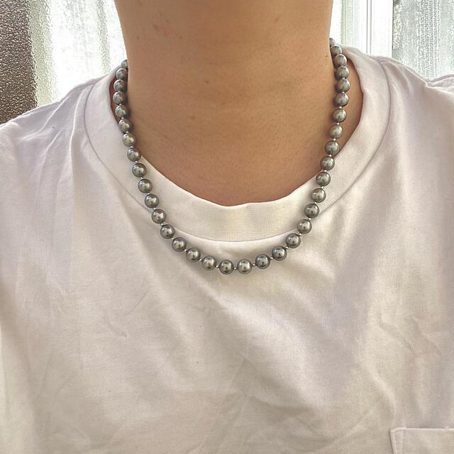 メンズパールネックレス メンズ パールネックレス メンズのアクセサリー(ネックレス)の商品写真