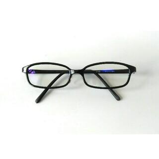 ジンズ(JINS)のJINS PC  ジンズ ブルーライトカット 度なし クリアレンズ ブラック(サングラス/メガネ)