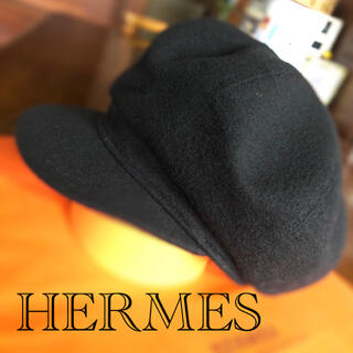 エルメス(Hermes)のHERMES ★カシミヤキャスケット【正規品】(キャスケット)