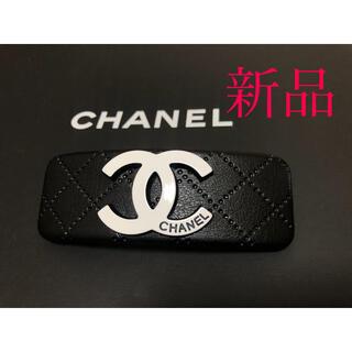 CHANEL - 【新品】 シャネル バレッタ 黒 革製