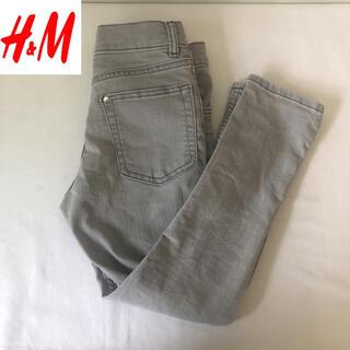 H&M - 一回使用 H&M スキニーフィットデニム キッズ 110~120 グレー
