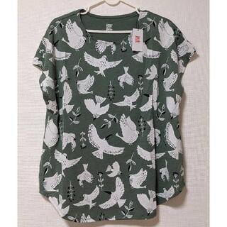 Design Tshirts Store graniph - グラニフ Tシャツ カットソー 鳥 グリーン