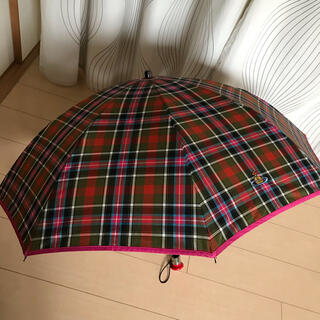 ヴィヴィアンウエストウッド(Vivienne Westwood)のヴィヴィアンウエストウッド 折り畳み傘 タータンチェック マックマラー 赤タグ (傘)