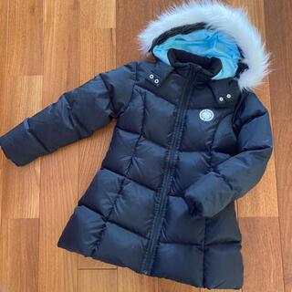 pom ponette - ポンポネット ダウン ジャケットコート 黒 サイズ140  ナルミヤ