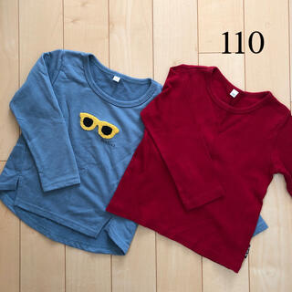 ニシマツヤ(西松屋)の長袖Tシャツ ロンT  2枚セット(Tシャツ/カットソー)