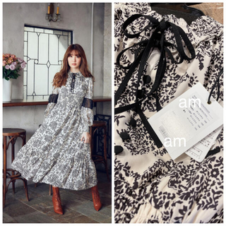 snidel - Winter Floral Long-sleeve Dress herlipto
