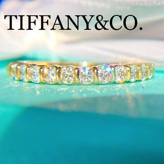 Tiffany & Co. - レア!ティファニー ハーフエタニティ ダイヤモンド リング K18
