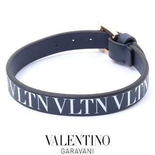 ヴァレンティノ(VALENTINO)の美品❤️ヴァレンティノガラヴァーニ ロゴ レザー ブレスレット(ブレスレット/バングル)