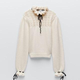 ザラ(ZARA)の24時迄セール❣️新品❤︎ZARAザラ❤︎リボン 付きセーター ニット (ニット/セーター)