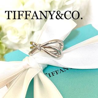 Tiffany & Co. - レア!ティファニー リボン ボウ ダイヤモンド リング K18WG