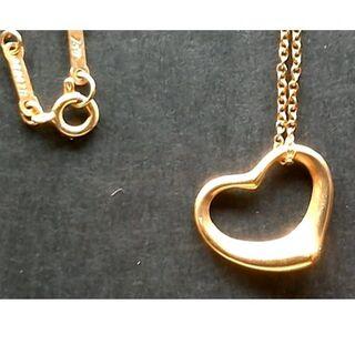 Tiffany & Co. - ティファニー K18YG オープンハート ネックレス 18金 750 ゴールド