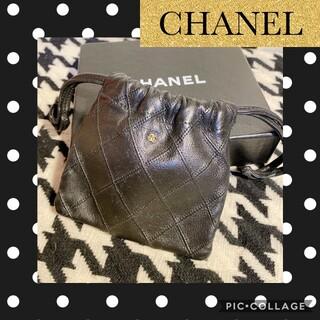 CHANEL - 正規品★CHANELシャネル。ビコローレ巾着ポーチ。激レア!シャネルポーチ