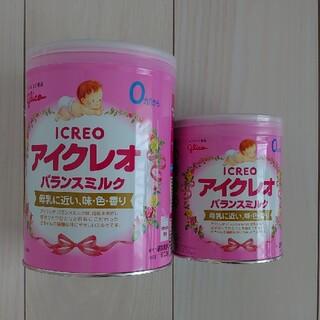 グリコ - アイクレオ800g缶と320g缶のセット