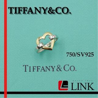 ティファニー(Tiffany & Co.)のティファニー 750/SV925 TIFFANY&Co. コンビリング ハート(リング(指輪))