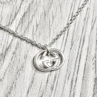 グッチ(Gucci)の正規品 グッチ ネックレス シルバー SV925 GG インターロッキング 銀4(ネックレス)