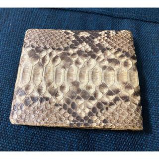 パイソン ニシキヘビ  折りたたみ財布(折り財布)