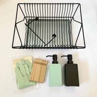 イケア(IKEA)の【IKEA】水切りかご スマホスタンド ソープディスペンサー 手袋(日用品/生活雑貨)