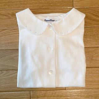 familiar - ファミリア 半袖 襟付きブラウス