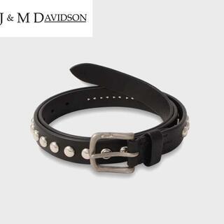 J&M DAVIDSON - 新品◆J&M Davidson スタッズベルト 黒 25mm幅/size30