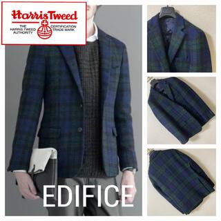 Harris Tweed - 美品◆エディフィス ハリスツイード◆マドラスチェック ツイード ジャケット 46