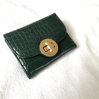 コムサイズム(COMME CA ISM)のCOMME CA ISM  折りたたみ財布 グリーン(財布)