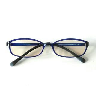 ジンズ(JINS)のJINS PC  ブルーライトカット 度なし 濃いめレンズ ネイビー スクエア(サングラス/メガネ)