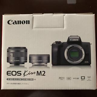 Canon - EOS kiss m2 ダブルレンズキット ホワイト