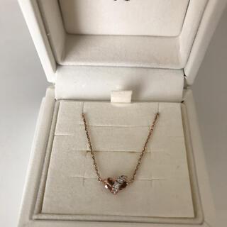 4℃ - K10PG 4℃ダイヤモンド付ネックレス