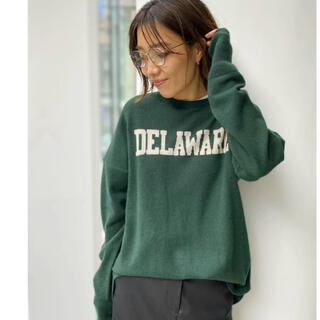 L'Appartement DEUXIEME CLASSE - アパルトモン  グッドグリーフ カシミア Logo Knit Pullover