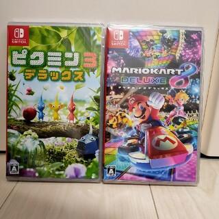 ニンテンドースイッチ(Nintendo Switch)の【新品未開封】マリオカート8デラックス & ピクミン3デラックス(家庭用ゲームソフト)