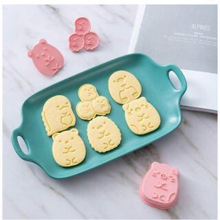 新品★ すみっコぐらし クッキー型 6個セット(調理道具/製菓道具)