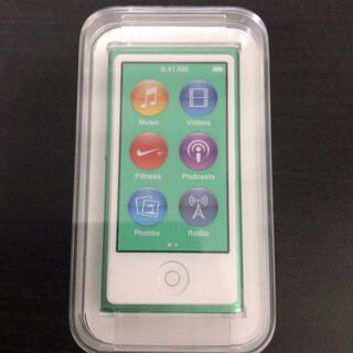 Apple - 【新品未使用】 iPod nano 第7世代 16GB 希少グリーン