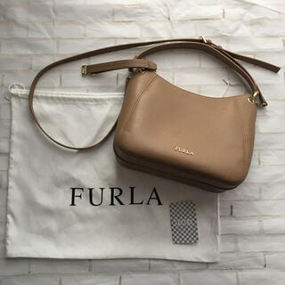Furla - 美品 FURLA フルラ  2way ショルダーバッグ 茶色 ベージュ