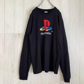 プレイステーション(PlayStation)のプレイステーション プレステPLAY STATION ロングTシャツ カットソー(Tシャツ/カットソー(七分/長袖))