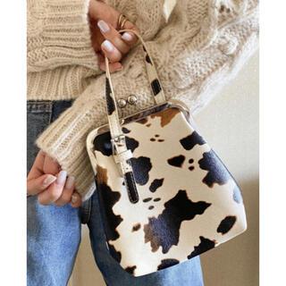 SeaRoomlynn - カウがま口ショルダー アニマル柄 牛柄 ハンドバッグ 斜めがけ ショルダーバッグ
