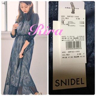 snidel - 完売色🌷新作新品🍀スナイデル パワショルレースワンピース