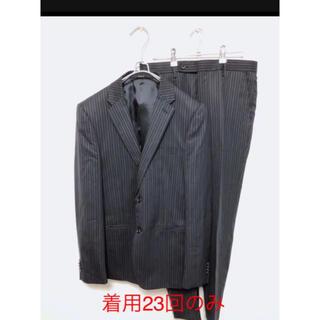 COMME CA ISM - 【極美品】コムサイズム メンズ スーツ 上下 ネイビー ブラック ストライプ