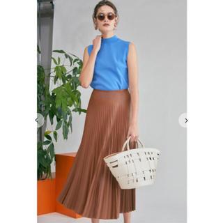 Mila Owen - フェイクレザープリーツスカート