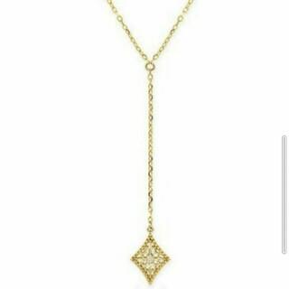k10 YG ダイヤモンド ペンダントネックレス