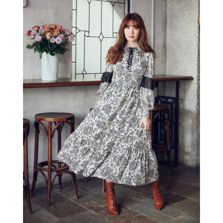 snidel - 【Herlipto】Winter Floral Longsleeve Dress