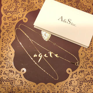 agete - agete K10 ネックレス 美品