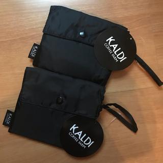 KALDI - カルディ KALDI エコバッグ ブラック・黒x 2 匿名配送