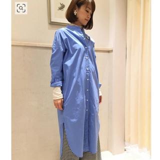 IENA - 【新品タグ付】IENA バンドカラーシャツワンピース