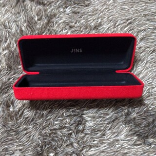 ジンズ(JINS)のメガネケース JINS 赤(サングラス/メガネ)
