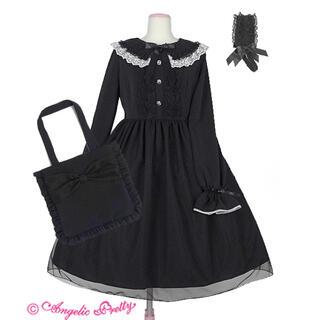 アンジェリックプリティー(Angelic Pretty)の最終値下げAngelic Pretty Eternal Doll ワンピース 黒(ひざ丈ワンピース)