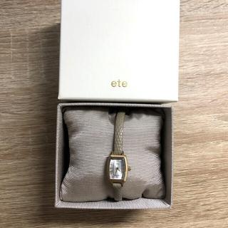 ete - ete 時計再入荷 ウォッチコレクション トノーフェイス エンボスレザーベルト