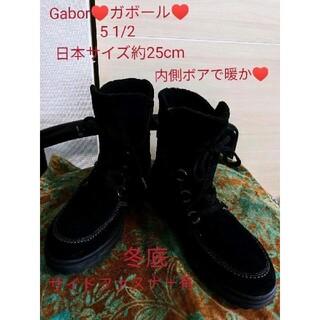 Gabor - Gabor♥ガボール♥レースアップショートブーツ♥5 1/2♥25cm黒美品