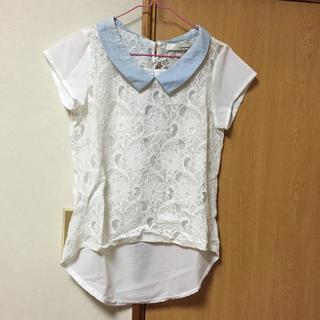 ミスティウーマン(mysty woman)のレーストップス(Tシャツ(半袖/袖なし))