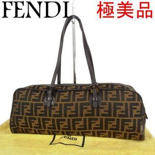 フェンディ(FENDI)のフェンディ 極美品 ズッカ 肩掛け ショルダー ハンド バッグ 保存袋付き(ショルダーバッグ)