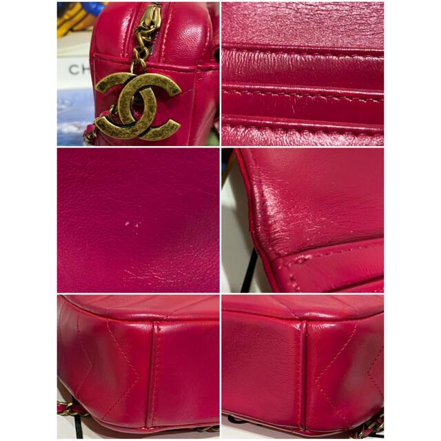 CHANEL(シャネル)のCHANEL ラムスキン チェーンショルダーバッグ フューシャピンク レディースのバッグ(ショルダーバッグ)の商品写真